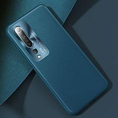 Custodia Lusso Pelle Cover R01 per Xiaomi Mi 10 Ciano