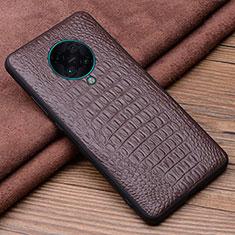 Custodia Lusso Pelle Cover R01 per Xiaomi Redmi K30 Pro Zoom Marrone
