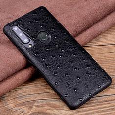 Custodia Lusso Pelle Cover R02 per Huawei Honor 20 Lite Nero