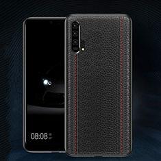 Custodia Lusso Pelle Cover R02 per Huawei Honor 20 Pro Nero