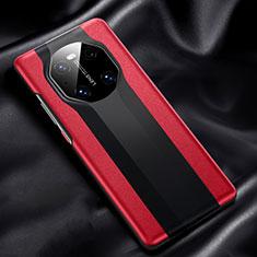 Custodia Lusso Pelle Cover R02 per Huawei Mate 40 Rosso