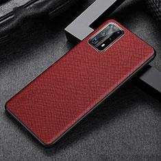 Custodia Lusso Pelle Cover R02 per Huawei P40 Pro+ Plus Rosso