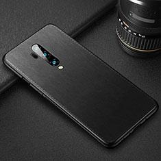 Custodia Lusso Pelle Cover R02 per OnePlus 7T Pro Nero