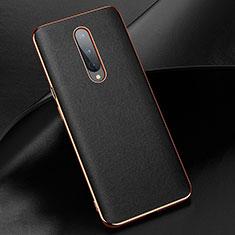Custodia Lusso Pelle Cover R02 per OnePlus 8 Nero