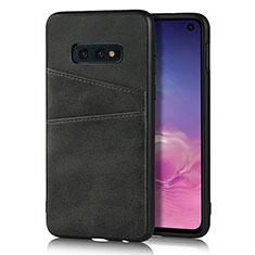 Custodia Lusso Pelle Cover R02 per Samsung Galaxy S10e Nero