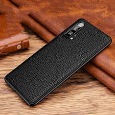 Custodia Lusso Pelle Cover R03 per Huawei Honor 20 Pro Nero