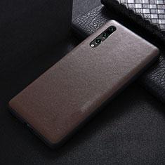 Custodia Lusso Pelle Cover R03 per Huawei P20 Pro Marrone