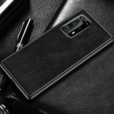 Custodia Lusso Pelle Cover R03 per Huawei P40 Pro+ Plus Nero