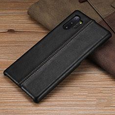 Custodia Lusso Pelle Cover R03 per Samsung Galaxy Note 10 Plus 5G Nero