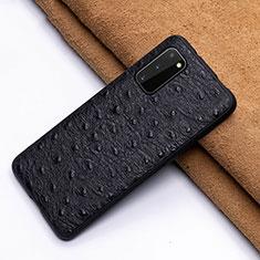 Custodia Lusso Pelle Cover R03 per Samsung Galaxy S20 5G Nero