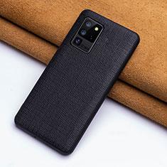 Custodia Lusso Pelle Cover R03 per Samsung Galaxy S20 Ultra Nero