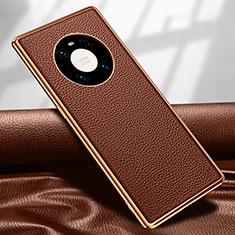 Custodia Lusso Pelle Cover R04 per Huawei Mate 40 Pro Marrone
