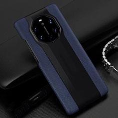 Custodia Lusso Pelle Cover R04 per Huawei Mate 40 RS Blu