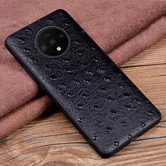 Custodia Lusso Pelle Cover R04 per OnePlus 7T Nero