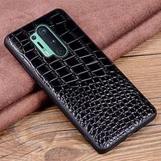 Custodia Lusso Pelle Cover R04 per OnePlus 8 Pro Nero