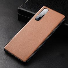 Custodia Lusso Pelle Cover R04 per Oppo Find X2 Neo Arancione