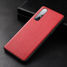 Custodia Lusso Pelle Cover R04 per Oppo Find X2 Neo Rosso