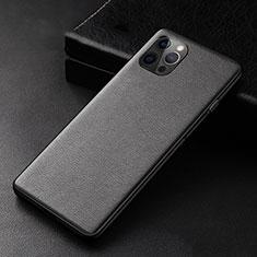 Custodia Lusso Pelle Cover R05 per Apple iPhone 12 Pro Max Nero