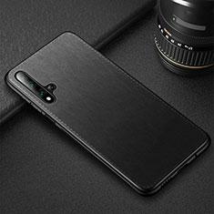 Custodia Lusso Pelle Cover R05 per Huawei Nova 5T Nero