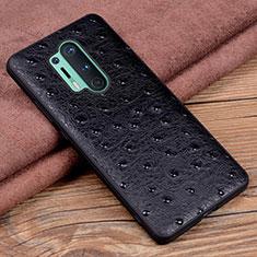 Custodia Lusso Pelle Cover R05 per OnePlus 8 Pro Nero