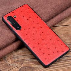Custodia Lusso Pelle Cover R05 per Samsung Galaxy Note 10 5G Rosso