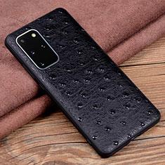 Custodia Lusso Pelle Cover R05 per Samsung Galaxy S20 Plus 5G Nero