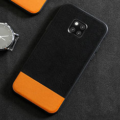 Custodia Lusso Pelle Cover R06 per Huawei Mate 20 Pro Nero
