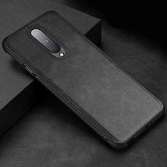 Custodia Lusso Pelle Cover R06 per OnePlus 8 Nero