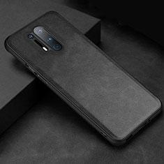 Custodia Lusso Pelle Cover R06 per OnePlus 8 Pro Nero