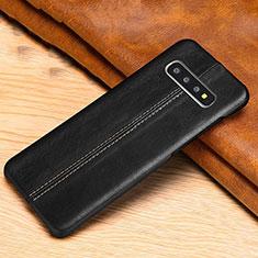 Custodia Lusso Pelle Cover R06 per Samsung Galaxy S10 Nero