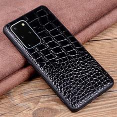 Custodia Lusso Pelle Cover R06 per Samsung Galaxy S20 Plus 5G Nero