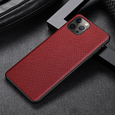 Custodia Lusso Pelle Cover R07 per Apple iPhone 12 Pro Max Rosso