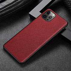 Custodia Lusso Pelle Cover R07 per Apple iPhone 12 Pro Rosso