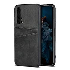 Custodia Lusso Pelle Cover R07 per Huawei Honor 20 Pro Nero