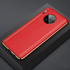 Custodia Lusso Pelle Cover R07 per Huawei Mate 30E Pro 5G Rosso