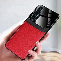 Custodia Lusso Pelle Cover R08 per Huawei Honor 20 Pro Rosso