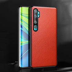 Custodia Lusso Pelle Cover R08 per Xiaomi Mi Note 10 Rosso