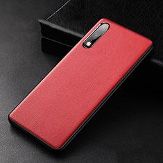 Custodia Lusso Pelle Cover S01 per Huawei Enjoy 10 Rosso