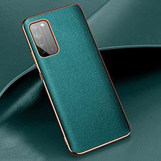 Custodia Lusso Pelle Cover S01 per Huawei Honor X10 5G Ciano
