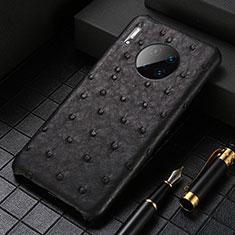 Custodia Lusso Pelle Cover S01 per Huawei Mate 30 Pro 5G Nero