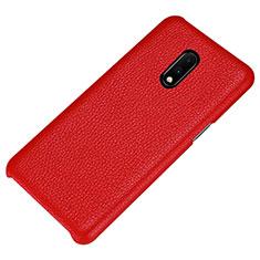 Custodia Lusso Pelle Cover S01 per OnePlus 7 Rosso
