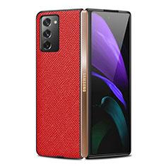 Custodia Lusso Pelle Cover S01 per Samsung Galaxy Z Fold2 5G Rosso