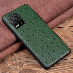 Custodia Lusso Pelle Cover S01 per Xiaomi Mi 10 Lite Verde