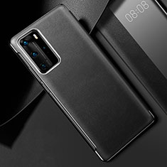 Custodia Lusso Pelle Cover S02 per Huawei P40 Pro Nero