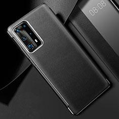 Custodia Lusso Pelle Cover S02 per Huawei P40 Pro+ Plus Nero