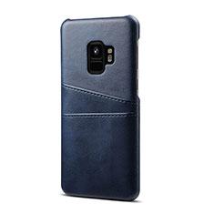 Custodia Lusso Pelle Cover S02 per Samsung Galaxy S9 Blu