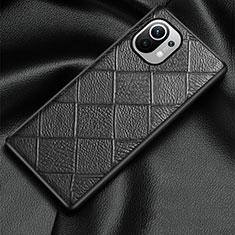 Custodia Lusso Pelle Cover S02 per Xiaomi Mi 11 5G Nero