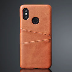 Custodia Lusso Pelle Cover S02 per Xiaomi Mi 8 Marrone