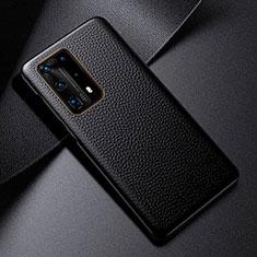 Custodia Lusso Pelle Cover S03 per Huawei P40 Pro+ Plus Nero