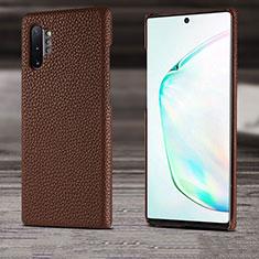 Custodia Lusso Pelle Cover S03 per Samsung Galaxy Note 10 Plus Marrone